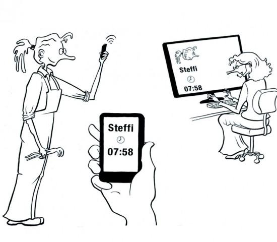 Mitarbeiter Check-in – mobile Zeiterfassung